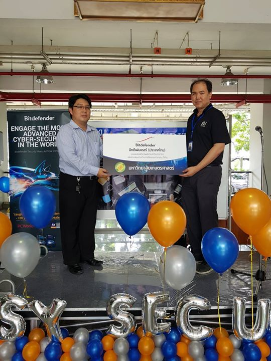 Bitdefender (Thailand), Donation for Kasetsart University, Bangkok, September 7th , 2017
