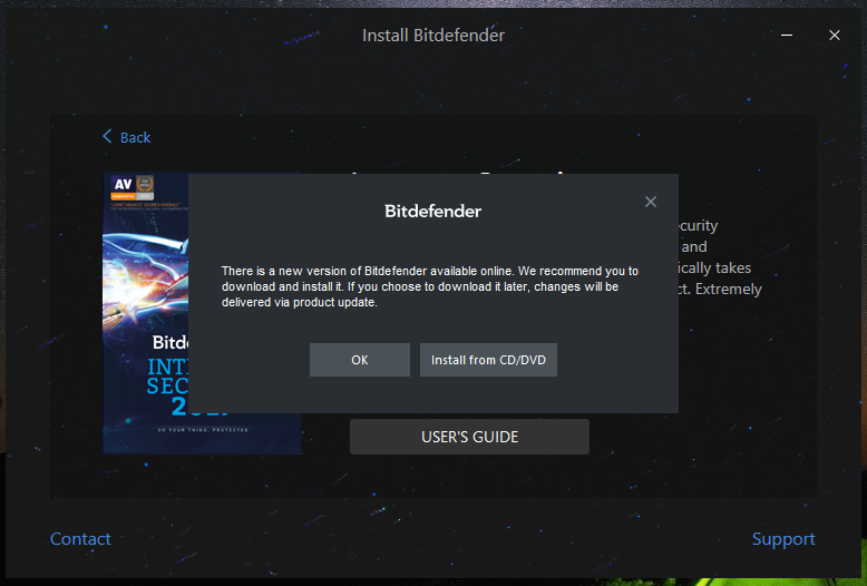 How to install Bitdefender Home Product from DVD