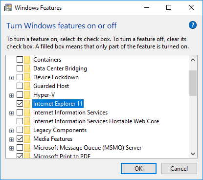 How to Uninstall IE11 from Windows 10