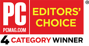 PC Mag Editor's Choice 4 category winner