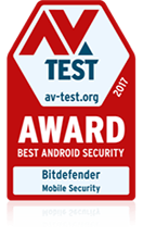 Avtest award 2017 Best Android Security